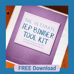 The Ultimate Parent IEP Binder Toolkit Free Download Printable